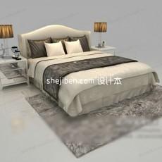 双人床免费3d模型下载