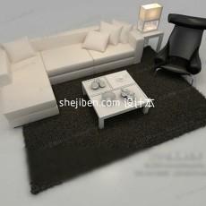 现代简约沙发3d模型下载
