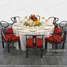 布桌子3d模型下载