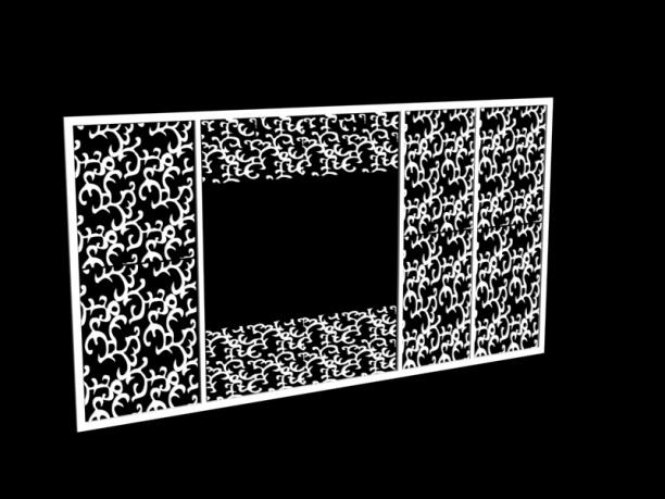 隔断屏风3d模型库免费下载