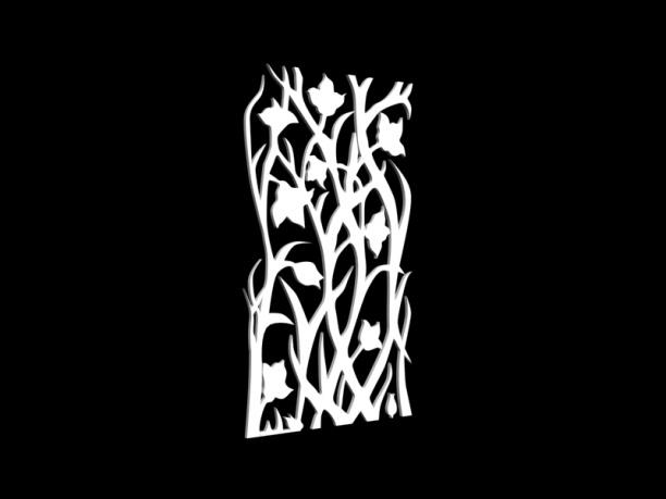 花草树状隔断3d模型免费下载网