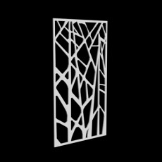 树枝隔断墙3d模型下载