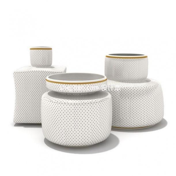 陶瓷点形水壶3d模型下载