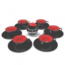 中式古典型茶具3d模型下载