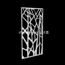 树枝隔断3d模型下载