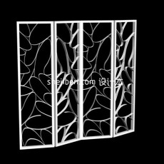 屏风隔断设计 3d模型下载