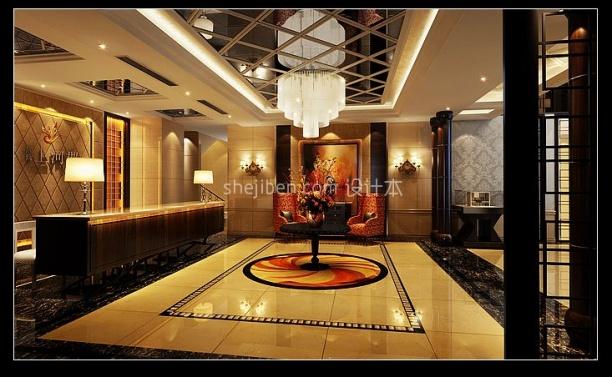 酒店大厅3d模型免费下载