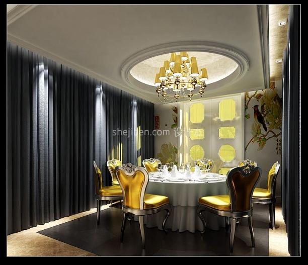 欧式风格餐厅3d模型下载网
