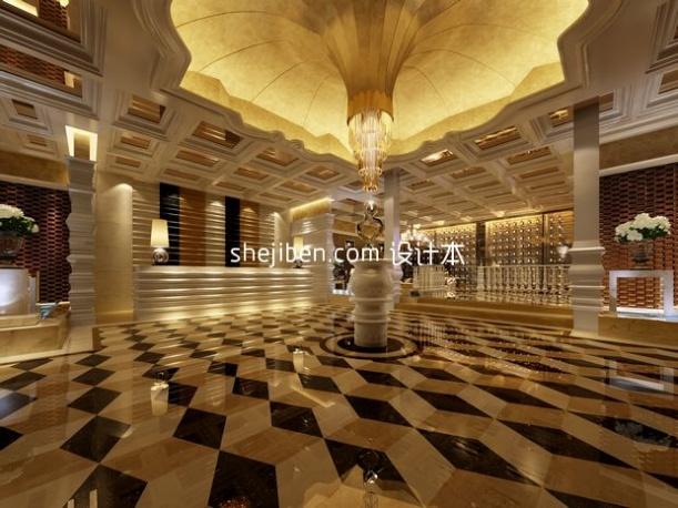 酒店大厅3d模型库免费下载