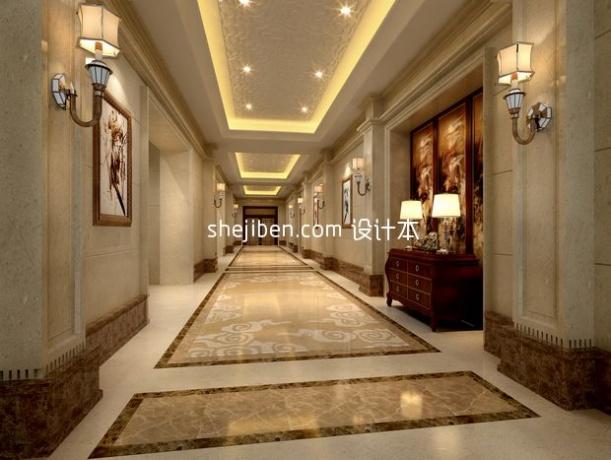 酒店过道3d模型