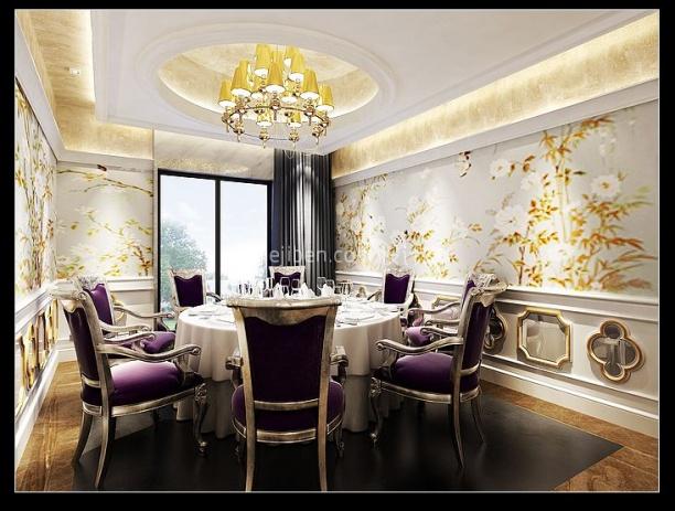 豪华餐厅3d模型免费下载