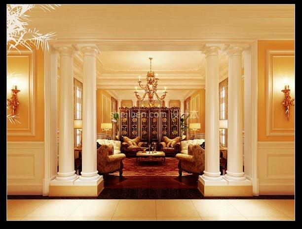 欧式酒店3d模型库免费下载