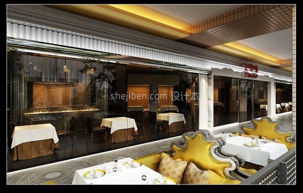 欧式豪华餐厅3d模型免费下载