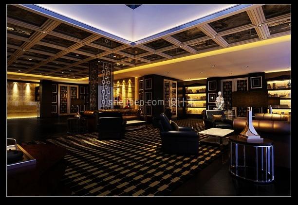 中式酒店3d模型免费下载网站