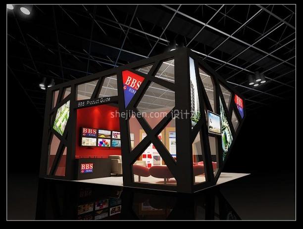 小型展厅3d模型下载