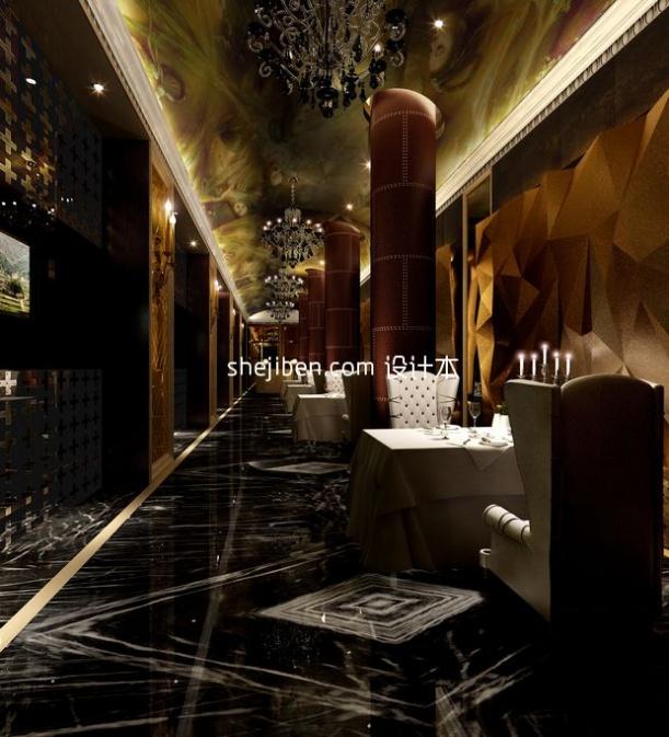 餐厅装修3d模型库免费下载