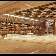五星级酒店宾馆大堂3d模型下载