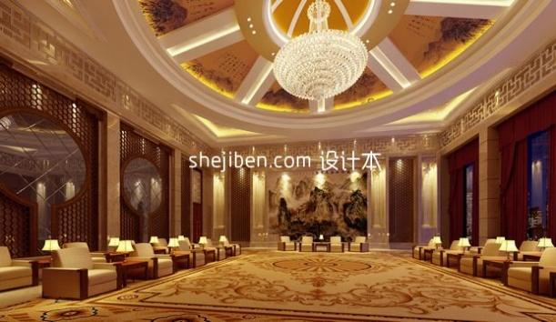中式风格大型会议厅3d模型下载网站