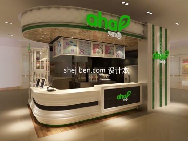 饮食专卖店小型展厅3d模型