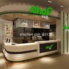 饮食专卖店小型展厅3d模型下载