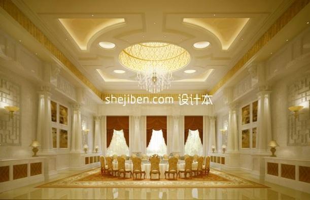 大型餐厅3d模型下载网