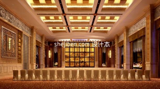 中式风格会议厅3d模型下载网站