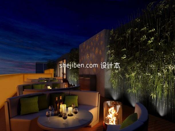 田园风格餐厅3d模型下载网