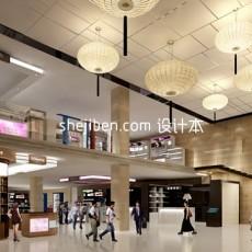 商场大型展厅3d模型下载