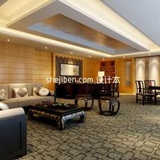 中式客厅网站3d模型下载