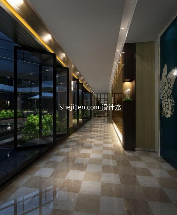 酒店过道3d模型下载网站