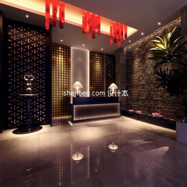中式酒店3d模型下载网站