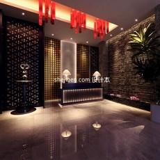 中式酒店网站3d模型下载