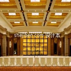 现代中式豪华餐厅免费3d模型下载
