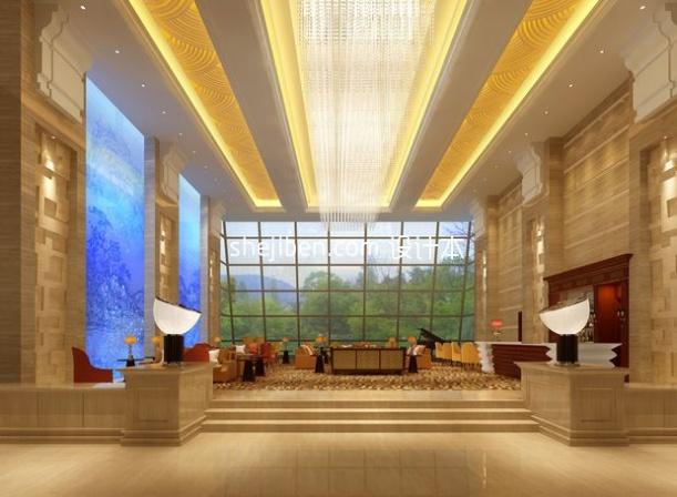 酒店餐厅3d模型下载网