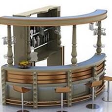 免费酒吧吧台3d模型下载