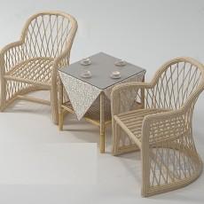 休闲椅组合3d模型下载