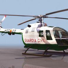 直升机-max飞机素材93d模型下载