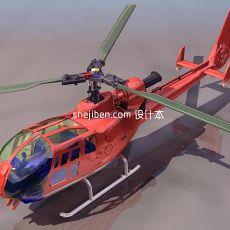 飞机-直升机3d模型下载