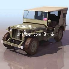 吉普车3d模型下载