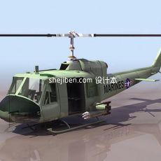 飞机-直升机333d模型下载