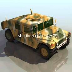 军用车辆3d模型下载