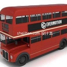 公共汽车3d模型下载