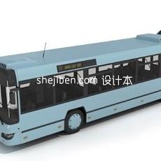 简易公交车3d模型下载