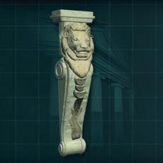 狮子柱子3d模型下载