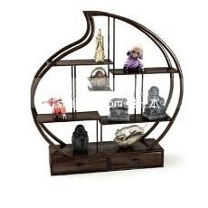 圆形博古架展示装饰柜3d模型下载