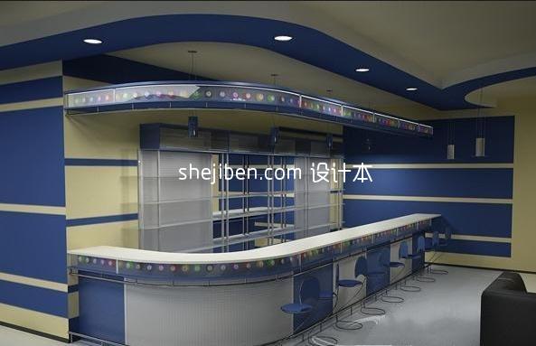 美女餐厅6中文_中式餐厅服务台3d模型下载-设计本3D模型下载