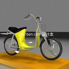 小电动车3d模型下载