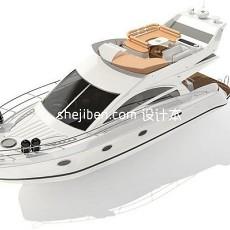 私人游艇船3d模型下载