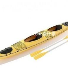 划桨船3d模型下载