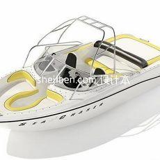 游艇轮船3d模型下载